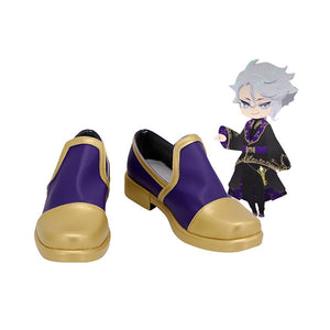 Disney Twisted-Wonderland Azul Ashengrotto Cosplay Shoes Leather Boots