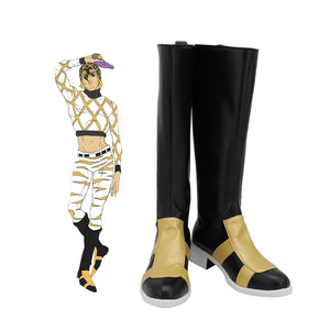 Guido Mista Black Shoes Cosplay JoJo's Bizarre Adventure Guido Mista Cosplay Boots Leather Shoes Custom Made