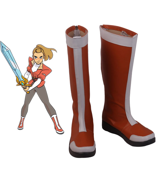 She-Ra and Princess of Power Adora Cosplay Shoes Red Boots Custom Made Any Size
