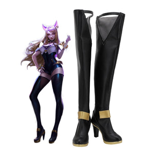 League of Legends KDA Ahri Over-Knee Cosplay Boots LOL KDA Ahri Cosplay Shoes High Heel Leather Boots Custom Made Any Size