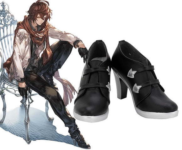Granblue Fantasy Sandalphon Cosplay Boots Black Shoes High Heel Boots Custom Made