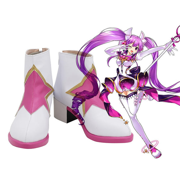 Aisha Shoes Cosplay ELSWORD Aisha Cosplay Boots Leather Shoes Custom Made Any Size