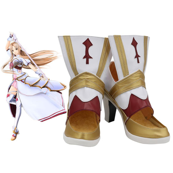 Sword Art Online: Alicization Lycoris Asuna Cosplay Boots High Heel Leather Shoes Custom Made