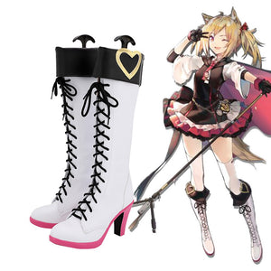 Arknights Sora Cosplay Boots White Shoes Sora High Heel Boots Custom Made