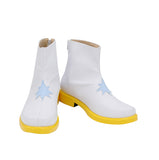 Cardcaptor Sakura Syaoran Li White Boots Cosplay Customized Leather Shoes
