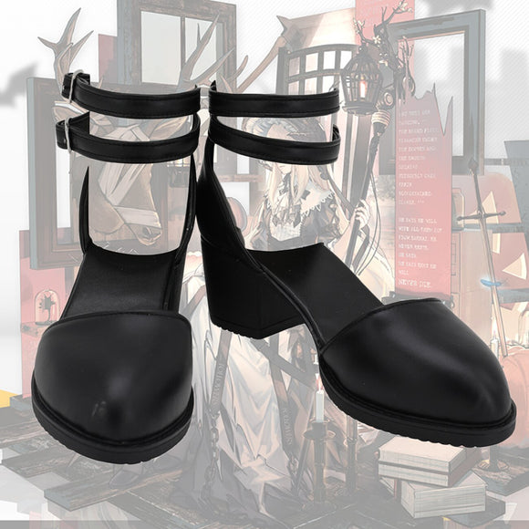 Arknights Nightingale Cosplay Shoes Customized Leather Sandals Custom Made