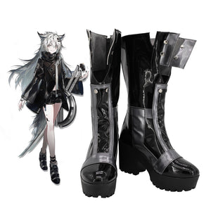 Arknights Lappland Cosplay Boots High Heel Shoes Custom Made for Unisex
