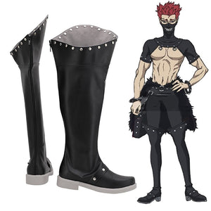 Black Clover Zara Ideale Cosplay Boots Black Leather Shoes Custom Made Any Size