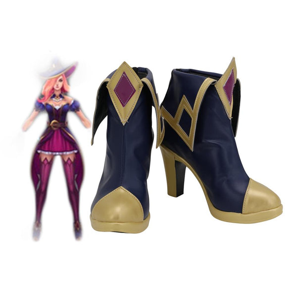 League of Legends LOL Miss Fortune Halloween Cosplay Boots High Heel Leather Shoes Custom Made
