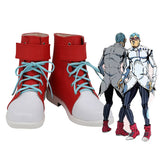JOJO Ghiaccio Shoes Cosplay JoJo's Bizarre Adventure Ghiaccio Cosplay Boots Red Shoes Custom Made for Unisex