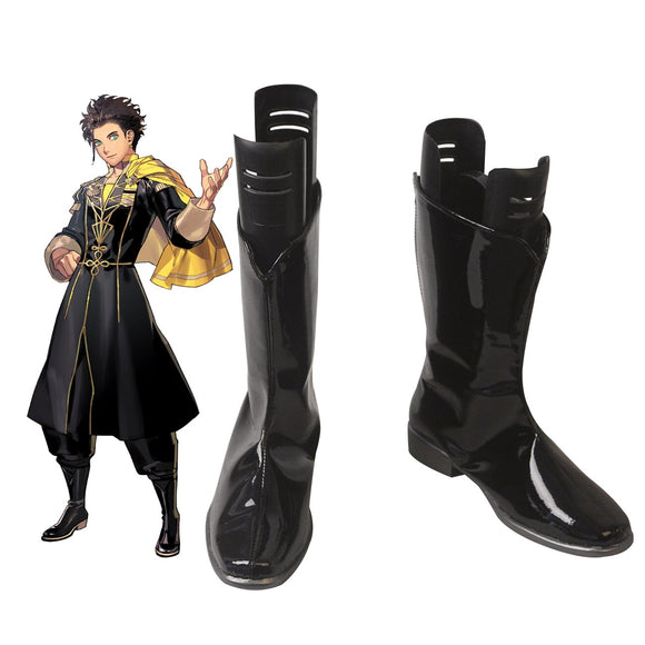 Fire Emblem Three Houses Claude Cosplay Boots Black Shoes Leather Boots Custom Made Any Size for Adults and Kids