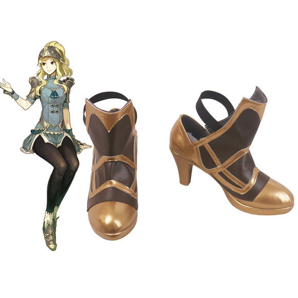 Fire Emblem Clair Cosplay Shoes High-heeled Boots Halloween Carnival Cosplay Accessories