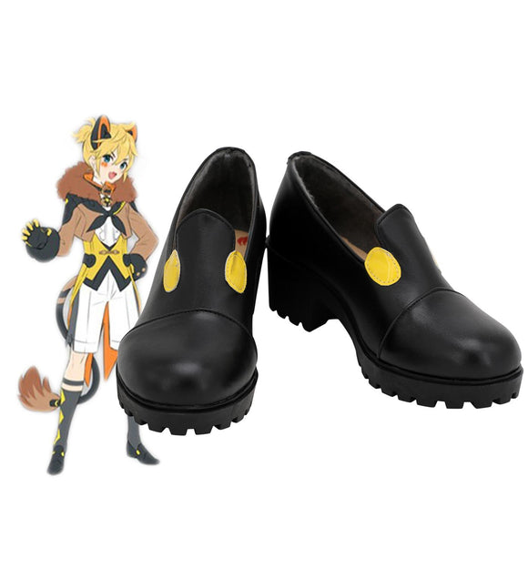 Vocaloid Magical Mirai 2019 Kagamine Rin Cosplay Shoes Black Boots Custom Made Any Size