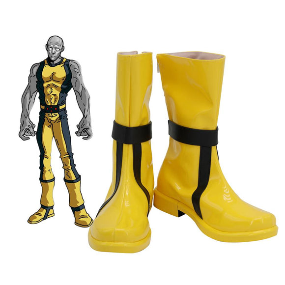 X-Men Graymalkin Cosplay Boots Yellow Shoes Custom Made for Adults and Kids