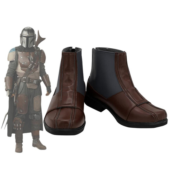 Mandalorian Shoes Cosplay Star Wars Mandalorian Cosplay Boots Leather Shoes Custom Made Any Size