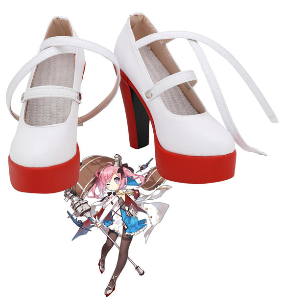 Azur Lane USS Saratoga Cosplay Shoes High Heel Boots Custom Made for Unisex
