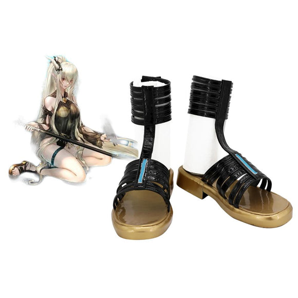 Arknights Shining Swiming Suit Skin Cosplay Shoes Black Sandals Custom Made