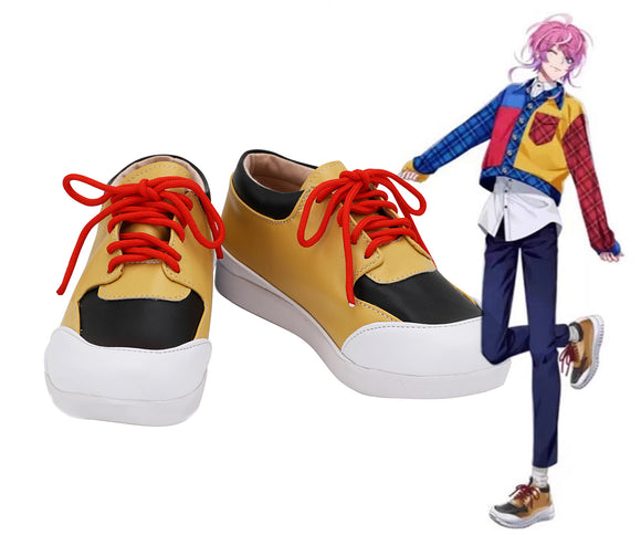 Hypnosis Mic Division Rap Battle Ramuda Amemura Cosplay Shoes Orange Boots Custom Made Any Size