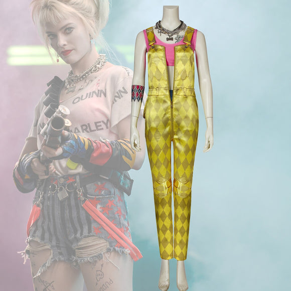 Birds Of Prey Harley Quinn 2020 Golden Rompers Cosplay Costume Suicide Squad Harley Quinn Cosplay Full Set