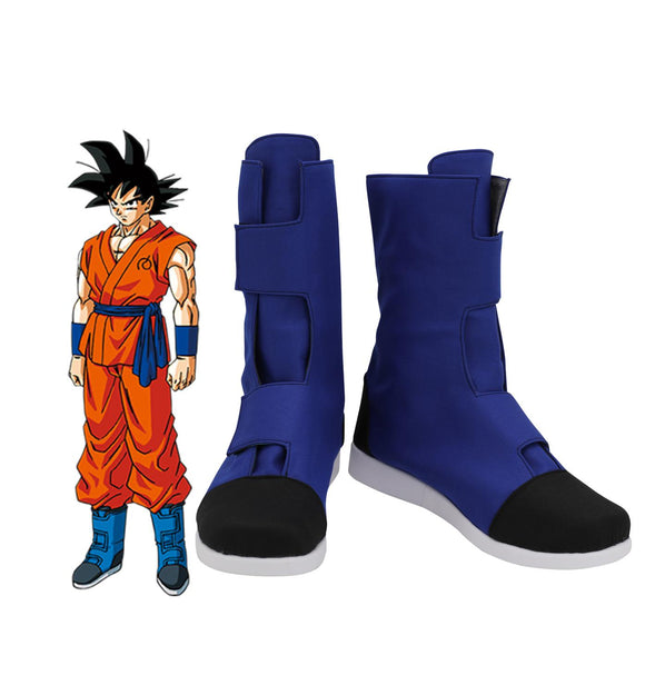 Dragon Ball Son Goku Cosplay Boots Blue Shoes for Halloween Party Cosplay Accessories