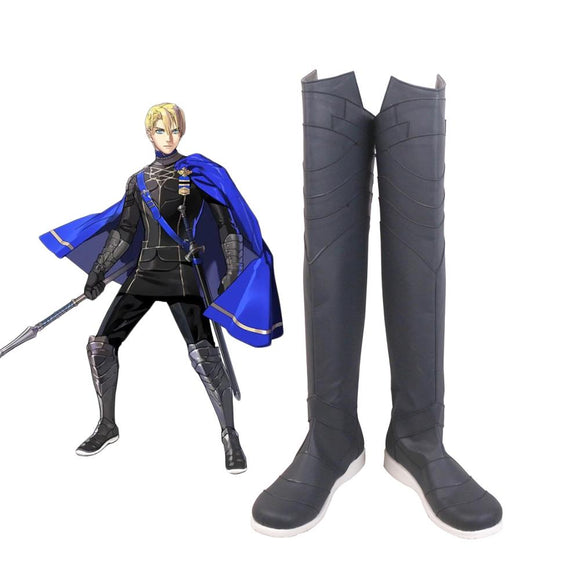 Fire Emblem Three Houses Dimitri Knee-high Boots Cosplay Dimitri Cosplay Shoes Leather Boots Custom Made Any Size