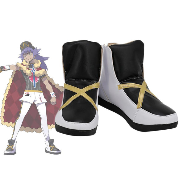 Leon Shoes Cosplay Pokemon Sword & Shield Leon Dande Cosplay Boots Leather Shoes