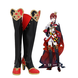 Disney Twisted-Wonderland Riddle Rosehearts Cosplay Long Boots High Heel Shoes
