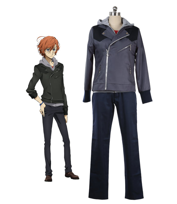 Bungo Stray Dogs 3 Nakahara Chuya Cosplay Costume Full Set Custom Made