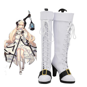 Arknights Nightingale Cosplay Boots White High Heel Shoes Custom Made