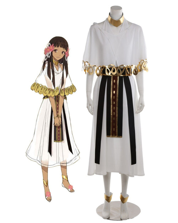Fate Prototype Fragments of Sky Silver Nefertari Dress Cosplay Costume Custom Made