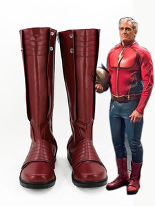 The Flash First Super Hero Jay Garrick Cosplay Boots Red Shoes Custom Made Any Size