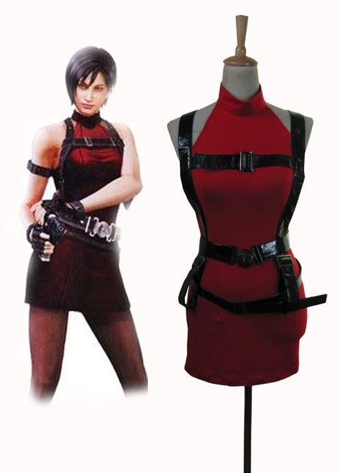 Resident Evil Ada Wong Red Dress Cosplay Costume Custom Made