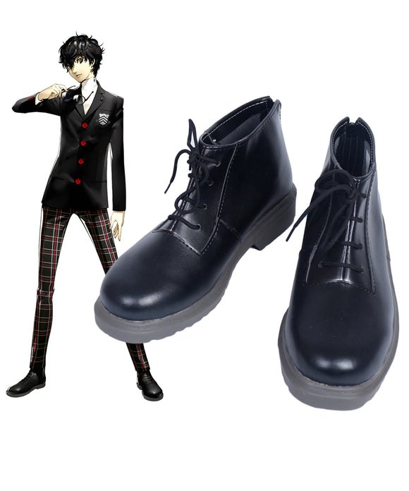 Persona 5 PA5 Joker Cosplay Shoes Black Boots Custom Made
