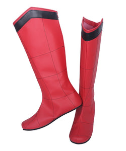 Superhero Spiderman Cosplay Boots Red Leather Shoes Custom Made Any Size