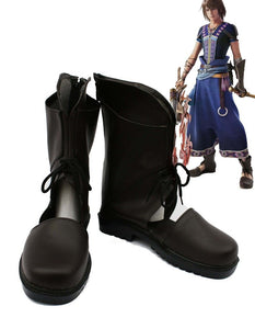 Cosgalaxy Final Fantasy XIII FF13 Noel Cosplay Boots Brown Shoes