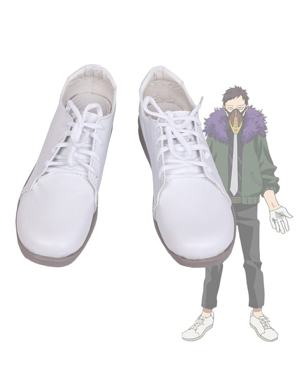 Boku no Hero Academia Kai Chisaki Cosplay Shoes My Hero Academia Chisaki Kai White Boots Cosplay Custom Made