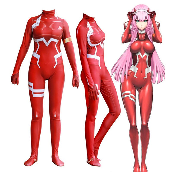 Darling in the Franxx 002 Bodysuit Cosplay Costume 3D Printing Zero Two Limited Edition Jumpsuit Halloween Cosplay
