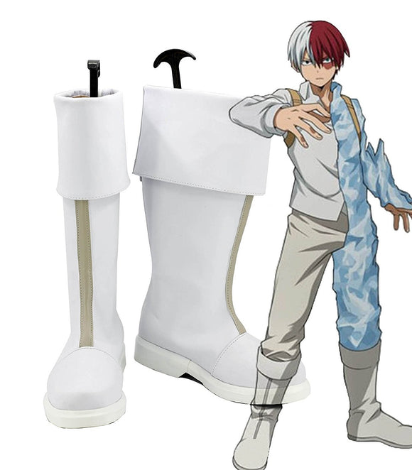 My Hero Academia Shoto Todoroki Cosplay Boots Boku no Hero Academia Todoroki  Shoto Cosplay Shoes Custom Made