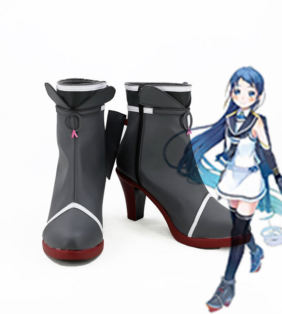 Kantai Collection Samidare Cosplay Boots High Heel Shoes Custom Made