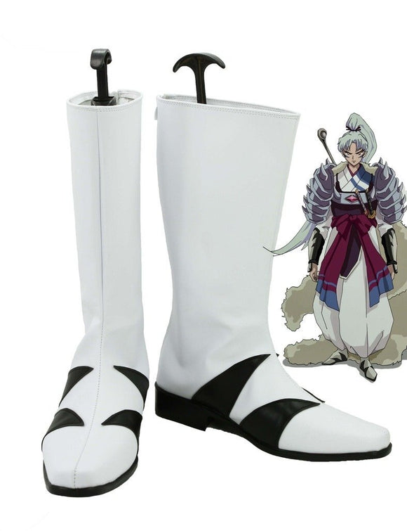 Inuyasha Anime Inu no Taisho Cosplay Boots White Shoes Custom Made