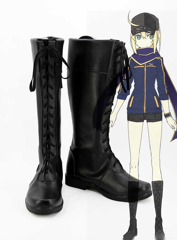 Fate Grand Order Mysterious Heroine X Cosplay Boots FGO Cosplay Black Shoes Custom Made