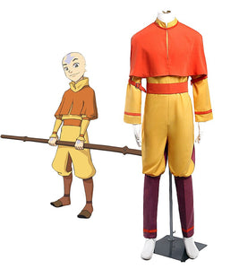 Anime Avatar Aang Cosplay Costume Custom Made Any Size