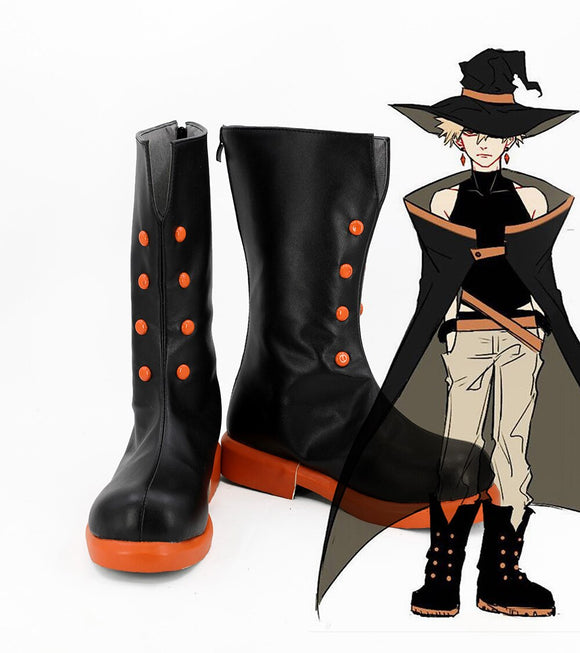 My Hero Academia Boku no Hero Academia Bakugou Katsuki Cosplay Boots Black Shoes Custom Made