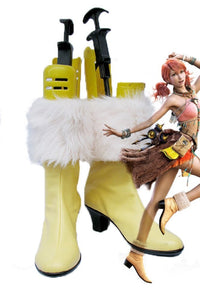 Final Fantasy XIII FF13 Oerba Dia Vanille Cosplay Boots Yellow Shoes