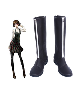 Persona 5 Niijima Makoto Queen PA5 Cosplay Boots Leather Shoes Custom Made