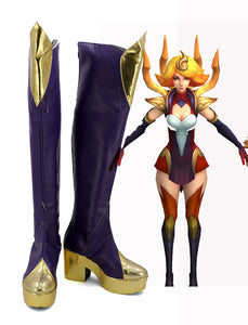 League of Legends LOL Lux Fire Original Bones Cosplay Boots Leather Shoes