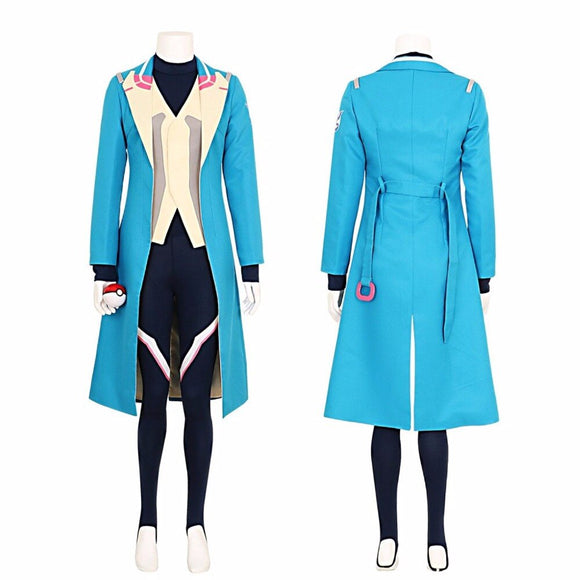 Pokemon Go Blanche Team Mystic Team Leader Cosplay Costume Custom Made