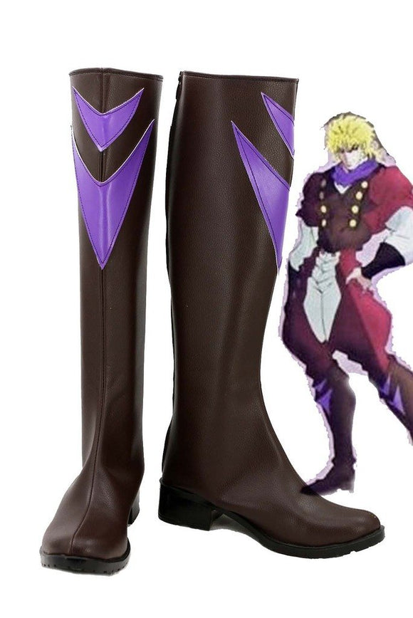 JOJO'S BIZARRE ADVENTURE Dio Brando Cosplay Boots Brown Shoes Custom Made