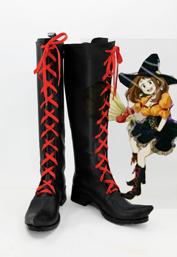 My Hero Academia OCHACO URARAKA Cosplay Boots Boku no Hero Academia Leather Shoes Custom Made
