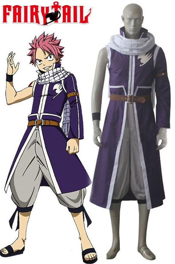 Fairy Tail Team A Natsu Dragneel Cosplay Costume Custom Made